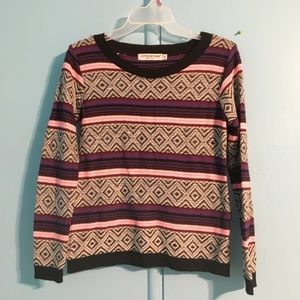 Bright cool patterned sweater